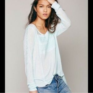 Free People FP New Romantics Gigi Tee Mint Top S
